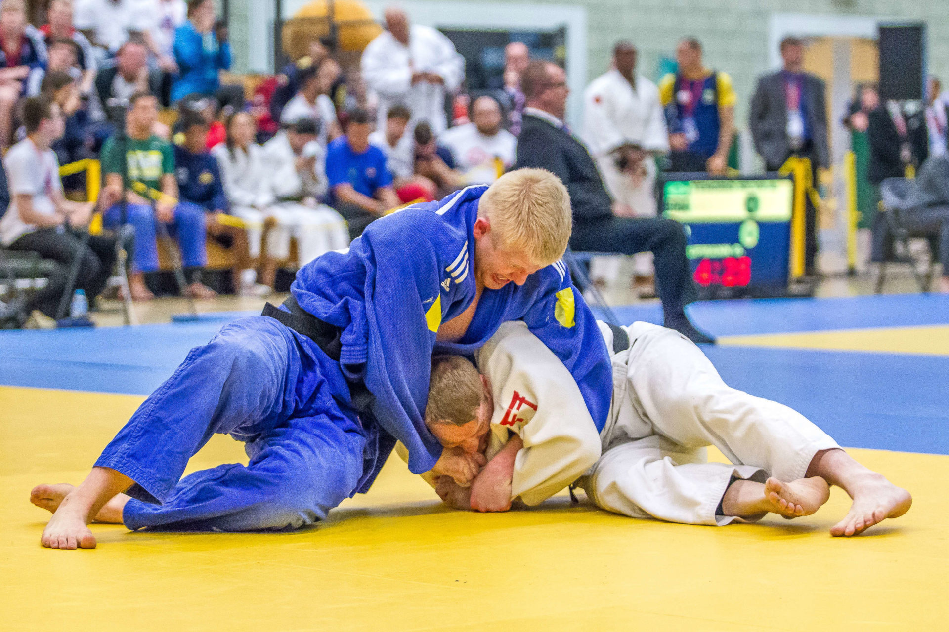 Action from last year's GB VI Judo Grand Prix