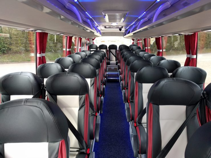 37 seat club class Midi Coach interior